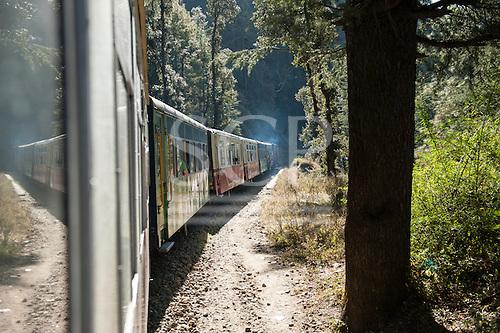 Shimla, Himachal Pradesh, India. The Himalayan Queen, the Toy Train from Shimla to Kalka