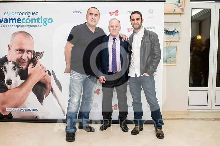 """Carlos Rodriguez, Felipe Villas and Dani Rovira during the presentation of the book """"Llevame contigo"""" of Carlos Rodriguez in Madrid, Spain. March 15, 2017. (ALTERPHOTOS/BorjaB.Hojas)"""