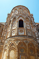 decorated extreior of Monreale Cathedral - Palermo - Sicily Pictures, photos, images & fotos photography