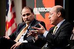 Ari Fleischer with David Axelrod (Washington, DC)