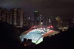 The firework displays at the Closing Ceremony of the HSBC Hong Kong Rugby Sevens 2017 on 09 April 2017, at the Hong Kong Stadium in Hong Kong, China. Photo by Kam Kwok Wong / Power Sport Images