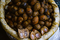 Betel nuts for sale in the large central market in Thimpu City, Bhutan