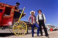 Three cowboys with their reed horse wagon in Tombstone, Arizona, USA foto, reise, photograph, image, images, photo,<br /> photos, photography, picture, pictures, urlaub, viaje, vacation, imagen, viagi, stock