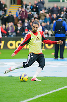 Sunday, 23 November 2012<br /> <br /> Pictured: Chico Flores of Swansea City<br /> <br /> Re: Barclays Premier League, Swansea City FC v Manchester United at the Liberty Stadium, south Wales.