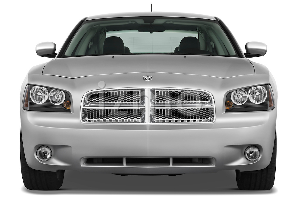 Straight front view of a 2008 Dodge Charger Dub