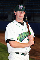 June 27th 2008:  Jeremy Synan of the Jamestown Jammers, Class-A affiliate of the Florida Marlins, during a game at Russell Diethrick Park in Jamestown, NY.  Photo by:  Mike Janes/Four Seam Images