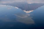 Mt. Fuji reflected in Lake Motosu, Fuji-Hakone-Izu National Park, Honshu, Japan
