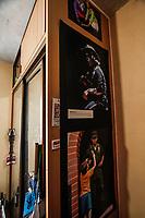 Oficinas de la agencia de fotografia norte Photo en sus inicios 2011.<br /> Decoración con fotos impresas del fotoperiodista Fasuto Ibarra