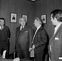 Les politiciens a l'assemblee nationale, le 26 juin 1960, Quebec.<br /> <br /> PHOTO :  Agence Quebec Presse