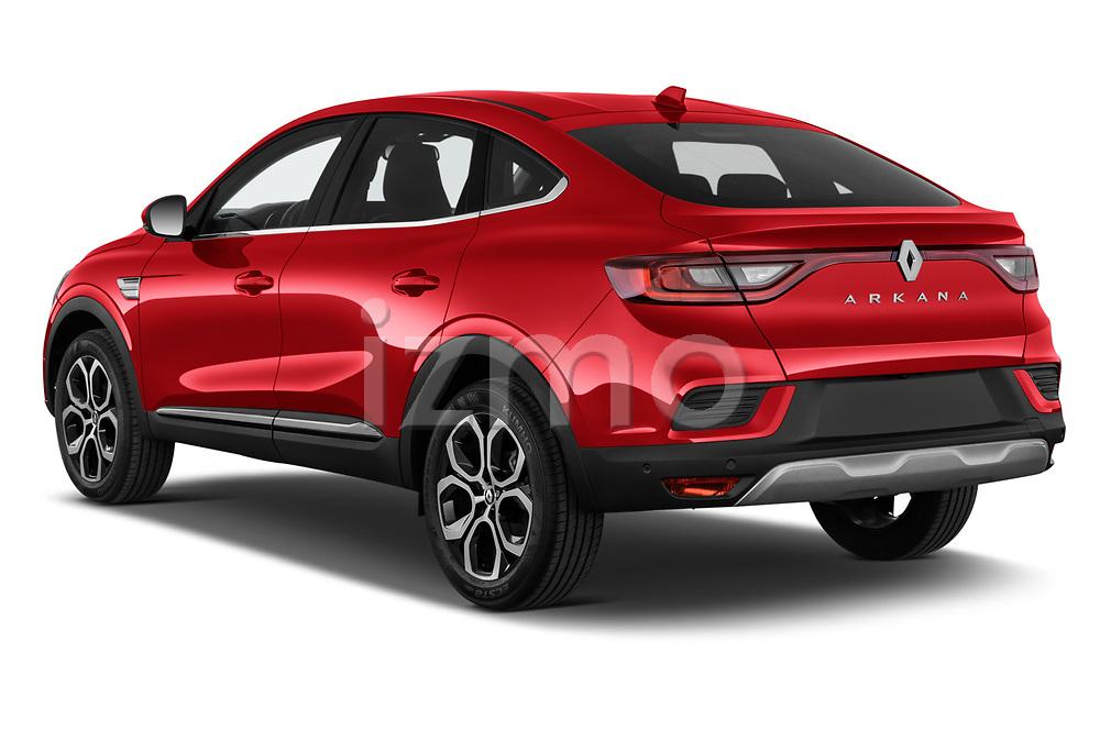 Car pictures of rear three quarter view of 2021 Renault Arkana Intens 5 Door SUV Angular Rear