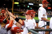 May. 15, 2008; Phoenix, AZ, USA; Arizona Diamondbacks shortstop Stephen Drew against the Colorado Rockies at Chase Field. Mandatory Credit: Mark J. Rebilas-