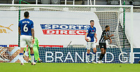 1st November 2020; St James Park, Newcastle, Tyne and Wear, England; English Premier League Football, Newcastle United versus Everton; Callum Wilson of Newcastle United scores Newcastles second goal at the far post in minute 84 to go 2-0 ahead against Everton as Michael Keane picks the ball out of the net