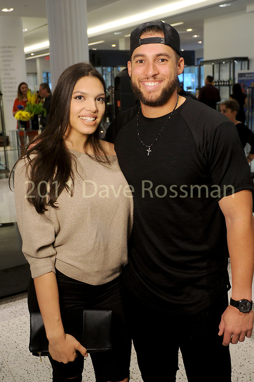 Charlise Castro and George Springer at the TeamUp for Kids & K9s supporting Sunshine Kids & Lance McCullers Jr Foundation at  Tootsies Thursday May 18, 2017. (Dave Rossman Photo)