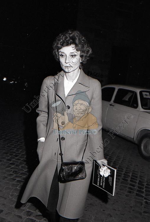AUDREY HEPBURN<br /> ROMA 1978