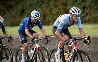 Jasper Stuyven (BEL/Trek-Segafredo) followed by Sonny Colbrelli (ITA/Bahrain - Victorious)<br /> <br /> Elite Men World Championships - Road Race<br /> from Antwerp to Leuven (268.3km)<br /> <br /> UCI Road World Championships - Flanders Belgium 2021<br /> <br /> ©kramon