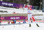 Sochi, RUSSIA - Mar 8 2014 -  Mark Arendz during his Silver medal performance in the 7.5km standing biathlon at 2014 Paralympic Winter Games in Sochi, Russia.  (Photo: Matthew Murnaghan/Canadian Paralympic Committee)