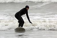 Surfer Dani Robertson at Aberavon Beach, Port Talbot, Wales, UK. Monday 13 March 2017<br /> NO SYNDICATION, NO THIRD PARTY SYNDICATION