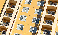Apartment building detail, Orlando, Florida, USA.