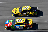 #18: Kyle Busch, Joe Gibbs Racing, Toyota Camry M&M's, #19: Daniel Suarez, Joe Gibbs Racing, Toyota Camry STANLEY