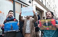 January 5 2018, PARIS FRANCE Demonstration of the Kurds Students near the Palais de l'Elysee against the visit of Turkish President Erdogan who meets French President Macron Paris. Some protesters are arrested by the Police. # MANIFESTATIONS DES ETUDIANTS KURDES CONTRE LA VISITE D'ERDOGAN