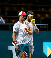 Rotterdam, The Netherlands, 11 Februari 2020, ABNAMRO World Tennis Tournament, Ahoy, <br /> John Peers (AUS) and Michael Venus (NZL).<br /> Photo: www.tennisimages.com