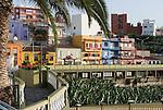Spain, Canary Islands, La Palma, Tazacorte: village centre