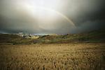 Rainbow above the mountains of Gray's Lake National Wildlife Refuge, Idaho.