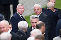 Alex Ferguson and Walter Smith arrive at Mortonhall Crematorium for the funeral service of Sandy Jardine.