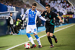 Ruben Salvador Perez del Marmol (L) of CD Leganes battles for the ball with Lucas Vazquez of Real Madrid during the Copa del Rey 2017-18 match between CD Leganes and Real Madrid at Estadio Municipal Butarque on 18 January 2018 in Leganes, Spain. Photo by Diego Gonzalez / Power Sport Images