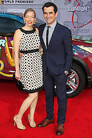 """HOLLYWOOD, LOS ANGELES, CA, USA - MARCH 11: Holly Burrell, Ty Burrell at the World Premiere Of Disney's """"Muppets Most Wanted"""" held at the El Capitan Theatre on March 11, 2014 in Hollywood, Los Angeles, California, United States. (Photo by Xavier Collin/Celebrity Monitor)"""
