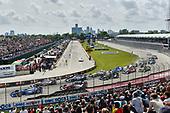 Verizon IndyCar Series<br /> Chevrolet Detroit Grand Prix Race 2<br /> Raceway at Belle Isle Park, Detroit, MI USA<br /> Sunday 4 June 2017<br /> Scott Dixon, Chip Ganassi Racing Teams Honda, Will Power, Team Penske Chevrolet, Conor Daly, A.J. Foyt Enterprises Chevrolet start<br /> World Copyright: Scott R LePage<br /> LAT Images<br /> ref: Digital Image lepage-170604-DGP-11385