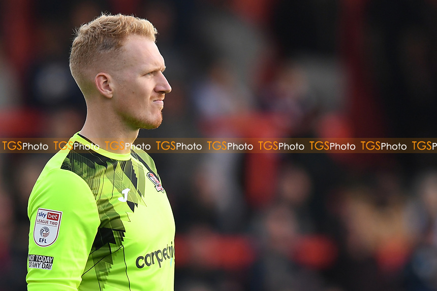 Cameron Dawson of Exeter City during Stevenage vs Exeter City, Sky Bet EFL League 2 Football at the Lamex Stadium on 9th October 2021
