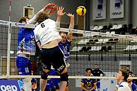 24-03-2021: Volleybal: Amysoft Lycurgus v Sliedrecht Sport: Groningen , smash Sliedrecht speler Bart Yark