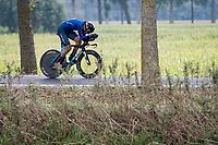 Filippo Baroncini (ITA/Colpack Ballan)<br /> <br /> World Championships U23 Men - ITT <br /> Time Trial from Knokke-Heist to Bruges (30.3km)<br /> <br /> UCI Road World Championships - Flanders Belgium 2021<br /> <br /> ©kramon