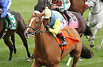 October 04, 2014: Dayatthespa and jockey John Velazquez win the 17th running of The First Lady Grade 1 $400,000 at Keeneland for owner Jerry Frankel, Ronald Frankel, Steve Laymon and Bradly Thoroughbreds and trainer Chad Brown .  Candice Chavez/ESW/CSM