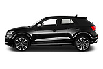 Car driver side profile view of a 2019 Audi SQ2 Base 5 Door SUV