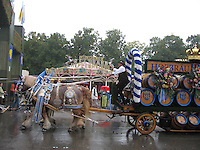 Horse-drawn beer wagon at Oktoberfest - Munich, Germany