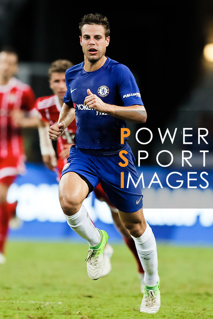 Chelsea Defender Cesar Azpilicueta in action during the International Champions Cup match between Chelsea FC and FC Bayern Munich at National Stadium on July 25, 2017 in Singapore. Photo by Marcio Rodrigo Machado / Power Sport Images