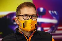 27th August 2021; Spa Francorchamps, Stavelot, Belgium: FIA F1 Grand Prix of Belgium, free practise:   F1 Grand Prix of Belgium Andreas Seidl GER, McLaren F1 Team at press conference