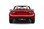Straight rear view of 2018 Fiat 124-Spider 1.4-Lusso 2 Door Convertible Rear View  stock images