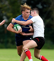 Saturday 4th September 20218 <br /> <br /> Adam Deay during U18 Clubs inter-pro between Ulster Rugby and Leinster at Newforge Country Club, Belfast, Northern Ireland. Photo by John Dickson/Dicksondigital