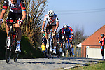 Oliver Naesen (BEL) AG2R Citroen Team gasps for breath on Oude Kwaremtont during the 73rd edition of Kuurne-Brussel-Kuurne 2021 running 197km from Kuurne to Kuurne, Belgium. 28th February 2021  <br /> Picture: Serge Waldbillig | Cyclefile<br /> <br /> All photos usage must carry mandatory copyright credit (© Cyclefile | Serge Waldbillig)