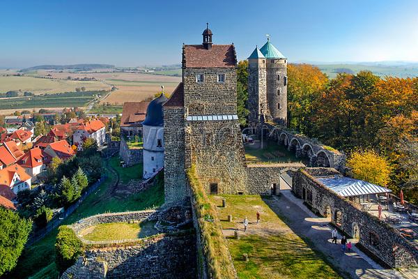 Germany, Deutschland, Saxony, Sachsen, Saxon Switzerland, Stolpen Castle with Cosel Tower, Stolpen, Saxon Switzerland