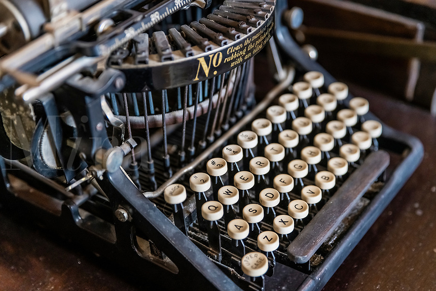 Old fashioned antique typewriter.