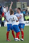 Stevie Smith celebrates his goal