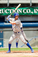 Bubba Starling (23) of the Burlington Royals at bat against the Princeton Rays at Hunnicutt Field on July 15, 2012 in Princeton, West Virginia.  The Royals defeated the Rays 2-0 in game one of a double header.  (Brian Westerholt/Four Seam Images)