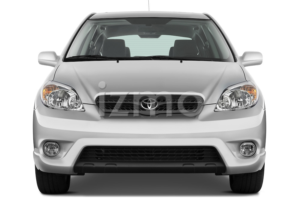 Straight front view of a 2008 Toyota Matrix wagon