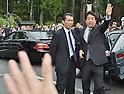 Shinzo Abe visits Kongobuji temple in Koyasan, Japan