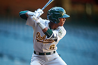 Oakland Athletics George Bell (6) during an Instructional League game against the Arizona Diamondbacks on October 15, 2016 at Chase Field in Phoenix, Arizona.  (Mike Janes/Four Seam Images)