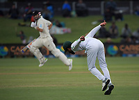 Pakistan's Fawad Alam tries to run out Daryl Mitchell during day three of the second International Test Cricket match between the New Zealand Black Caps and Pakistan at Hagley Oval in Christchurch, New Zealand on Tuesday, 5 January 2021. Photo: Dave Lintott / lintottphoto.co.nz